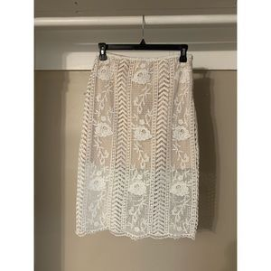 Topshop JOA Lace Skirt